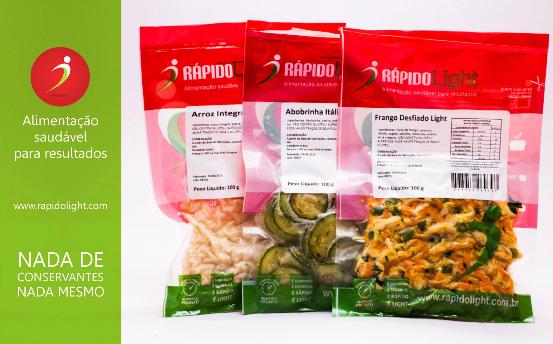 Produtos Rápido Light: porções individualizadas de cada alimento