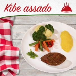 Kibe Assado + Purê de Baroa + Mix de legumes