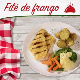 Filé de Frango + Batata Sauteé + Mix de legumes