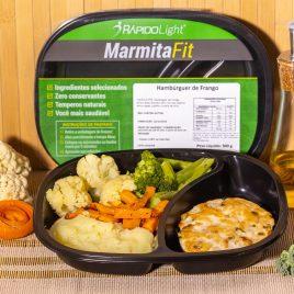 Hambúrguer de Frango + Purê de Batata + Mix de legumes