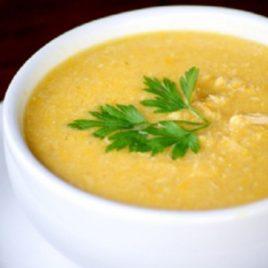 Sopa de Batata Doce com Frango Desfiado