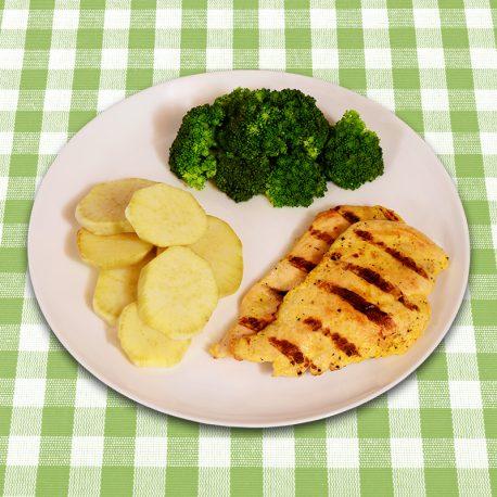 file-de-frango-grelhado-batata-doce-brocolis
