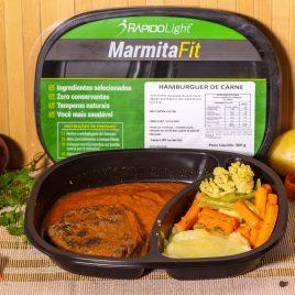 Hamburger de carne + Purê de batata + Molho e Mix de Legumes